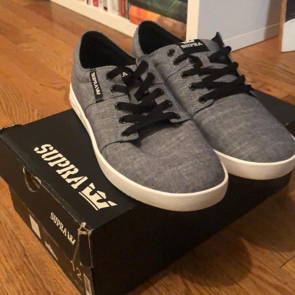 1e822a2154 Supra Shoes | Stacks Ii Denim Bluewhite Brand New | Poshmark